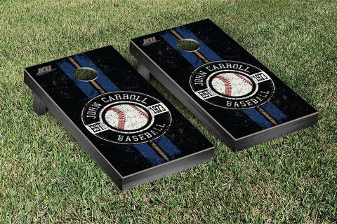 John Carroll Blue Streaks Cornhole Game Set Baseball Vintage Version - Victory Tailgate 34799