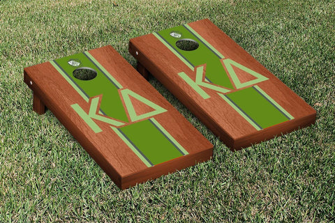 Kappa Delta Rosewood Stained Cornhole Set Victory Tailgate