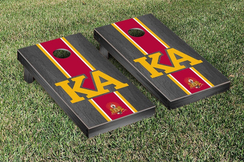 Kappa Alpha Order Onyx Stained Cornhole Set Victory Tailgate 31305