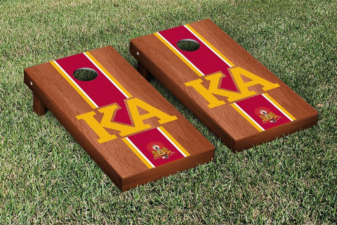 Kappa Alpha Order Rosewood Stained Cornhole Set Victory Tailgate 31306