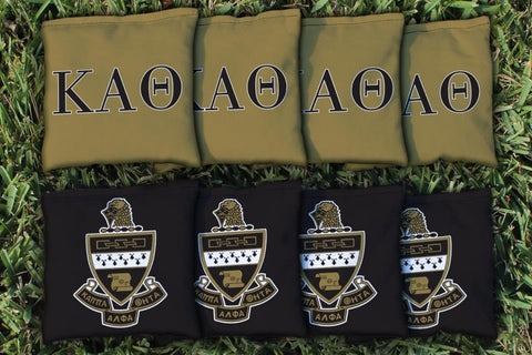 Kappa Alpha Theta Corn Hole Bag Logo Set - corn filled