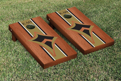 Kappa Alpha Theta Rosewood Stained Cornhole Set Victory Tailgate 31311