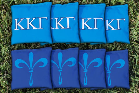 Kappa Kappa Gamma Corn Hole Bag Logo Set - corn filled