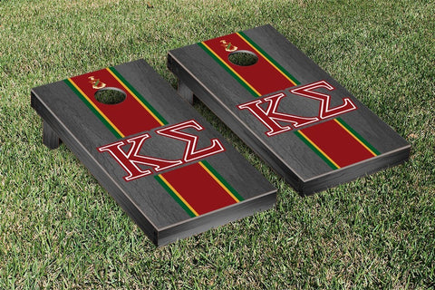 Kappa Sigma Onyx Stained Cornhole Set Victory Tailgate 31437