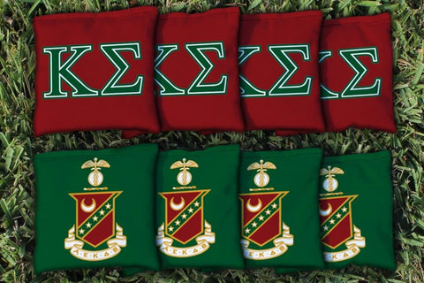 Kappa Sigma Corn Hole Bag Logo Set - corn filled