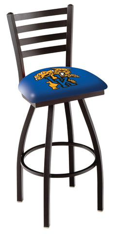 "UK Wildcats L014 - 30"" Black Wrinkle Kentucky ""Wildcat"" Swivel Bar Stool with Ladder Style Back"