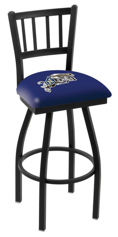 "Navy Midshipmen L018 - 30"" Black Wrinkle US Naval Academy (NAVY) Swivel Bar Stool with Jailhouse Style Back"