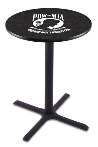 POW/MIA Pub Table with Cross Base - Holland Bar L211B42POWMIA