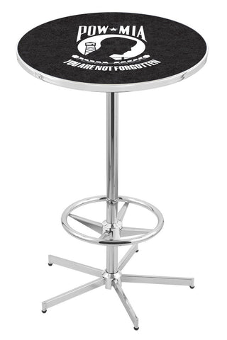 POW/MIA Pub Table with Retro Base - Holland Bar L216C42POWMIA