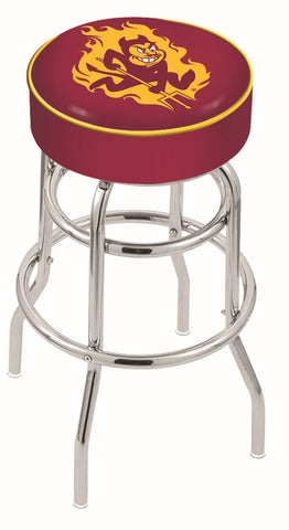 "ASU Sun Devils 30"" L7C1 - 4"" Arizona State Cushion Seat with Double-Ring Chrome Base Swivel Bar Stool by Holland Bar Stool Company"