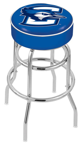 "Creighton Bluejays 30"" L7C1 - 4"" Creighton Cushion Seat with Double-Ring Chrome Base Swivel Bar Stool by Holland Bar Stool Company"