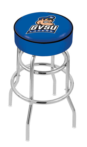 "GVSU Lakers 30"" L7C1 - 4"" Grand Valley State Cushion Seat with Double-Ring Chrome Base Swivel Bar Stool by Holland Bar Stool Company"