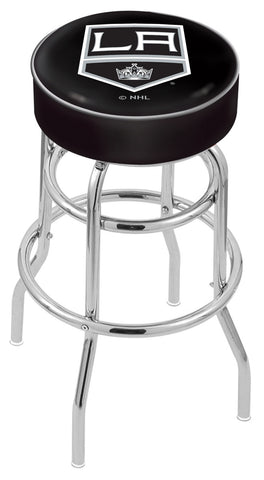 "30"" L7C1 - 4"" Los Angeles Kings Cushion Seat with Double-Ring Chrome Base Swivel Bar Stool by Holland Bar Stool Company"