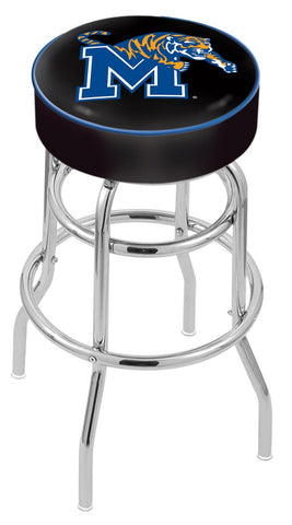 "Memphis Tigers 30"" L7C1 - 4"" Memphis Cushion Seat with Double-Ring Chrome Base Swivel Bar Stool by Holland Bar Stool Company"