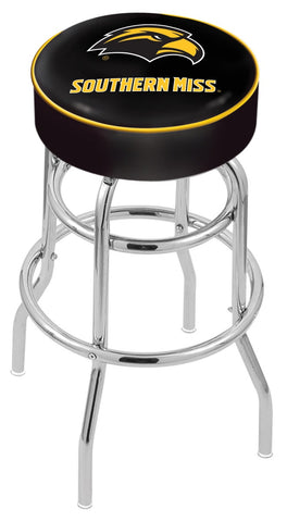 "Southern Miss Golden Eagles 30"" L7C1 - 4"" Southern Miss Cushion Seat with Double-Ring Chrome Base Swivel Bar Stool by Holland Bar Stool Company"