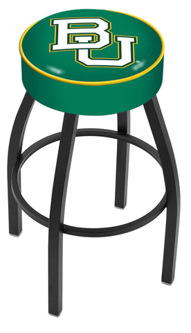 "Baylor  Bears 30"" L8B1 - 4"" Baylor Cushion Seat with Black Wrinkle Base Swivel Bar Stool by Holland Bar Stool Company"