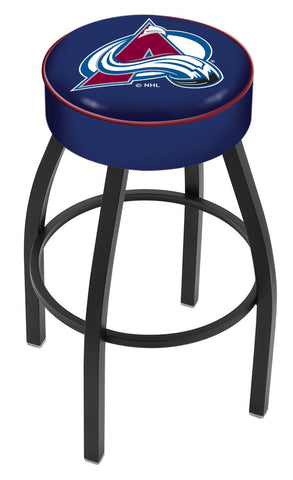 "30"" L8B1 - 4"" Colorado Avalanche Cushion Seat with Black Wrinkle Base Swivel Bar Stool by Holland Bar Stool Company"