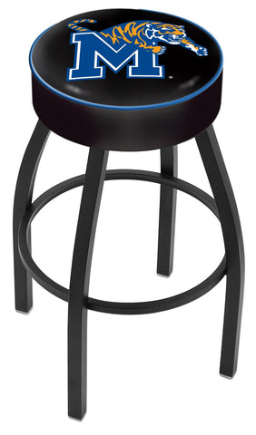 "Memphis Tigers 30"" L8B1 - 4"" Memphis Cushion Seat with Black Wrinkle Base Swivel Bar Stool by Holland Bar Stool Company"