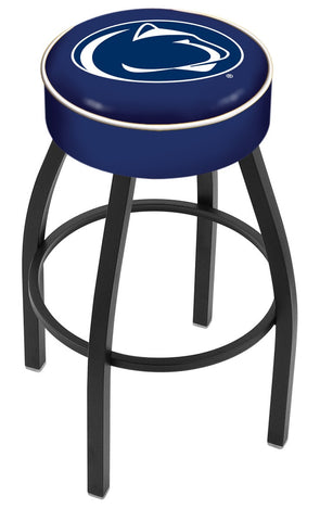 "PSU Nittany Lions 30"" L8B1 - 4"" Penn State Cushion Seat with Black Wrinkle Base Swivel Bar Stool by Holland Bar Stool Company"