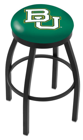 "Baylor  Bears 30"" L8B2B - Black Wrinkle Baylor Swivel Bar Stool with Accent Ring by Holland Bar Stool Company"