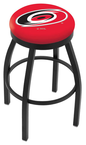 "30"" L8B2B - Black Wrinkle Carolina Hurricanes Swivel Bar Stool with Accent Ring by Holland Bar Stool Company"