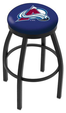 "30"" L8B2B - Black Wrinkle Colorado Avalanche Swivel Bar Stool with Accent Ring by Holland Bar Stool Company"