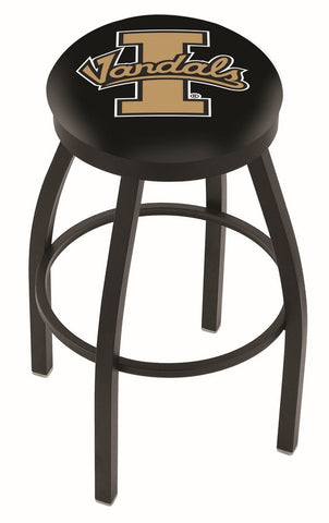 "Idaho Vandals 30"" L8B2B - Black Wrinkle Idaho Swivel Bar Stool with Accent Ring by Holland Bar Stool Company"