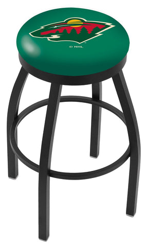"30"" L8B2B - Black Wrinkle Minnesota Wild Swivel Bar Stool with Accent Ring by Holland Bar Stool Company"