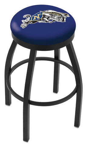 "Navy Midshipmen 30"" L8B2B - Black Wrinkle US Naval Academy (NAVY) Swivel Bar Stool with Accent Ring by Holland Bar Stool Company"