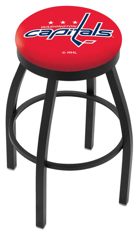 "30"" L8B2B - Black Wrinkle Washington Capitals Swivel Bar Stool with Accent Ring by Holland Bar Stool Company"