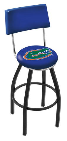 "UF Gators 30"" L8B4 - Black Wrinkle Florida Swivel Bar Stool with a Back by Holland Bar Stool Company"