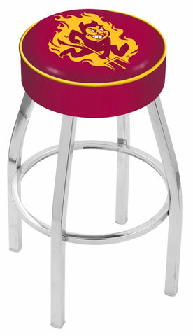 "ASU Sun Devils 30"" L8C1 - 4"" Arizona State Cushion Seat with Chrome Base Swivel Bar Stool by Holland Bar Stool Company"