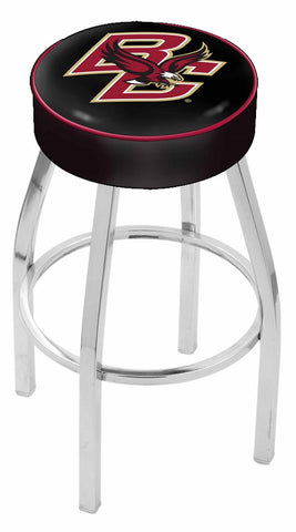 "BC Eagles 30"" L8C1 - 4"" Boston College Cushion Seat with Chrome Base Swivel Bar Stool by Holland Bar Stool Company"