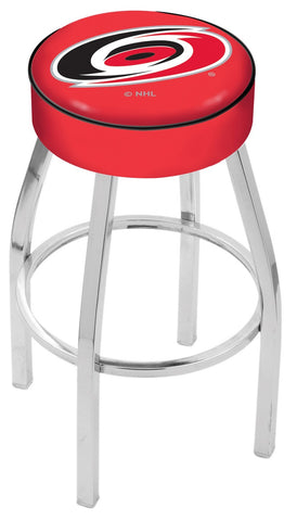 "30"" L8C1 - 4"" Carolina Hurricanes Cushion Seat with Chrome Base Swivel Bar Stool by Holland Bar Stool Company"