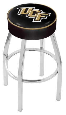 "UCF Knights 30"" L8C1 - 4"" Central Florida Cushion Seat with Chrome Base Swivel Bar Stool by Holland Bar Stool Company"