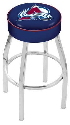 "30"" L8C1 - 4"" Colorado Avalanche Cushion Seat with Chrome Base Swivel Bar Stool by Holland Bar Stool Company"