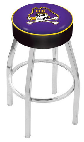 "ECU Pirates 30"" L8C1 - 4"" East Carolina Cushion Seat with Chrome Base Swivel Bar Stool by Holland Bar Stool Company"