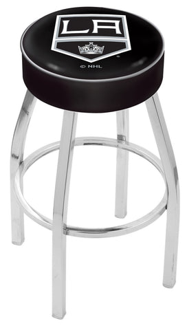 "30"" L8C1 - 4"" Los Angeles Kings Cushion Seat with Chrome Base Swivel Bar Stool by Holland Bar Stool Company"