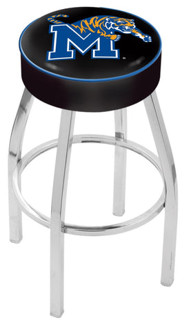 "Memphis Tigers 30"" L8C1 - 4"" Memphis Cushion Seat with Chrome Base Swivel Bar Stool by Holland Bar Stool Company"