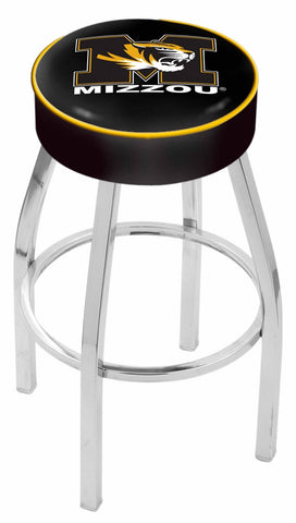 "Mizzou Tigers 30"" L8C1 - 4"" Missouri Cushion Seat with Chrome Base Swivel Bar Stool by Holland Bar Stool Company"