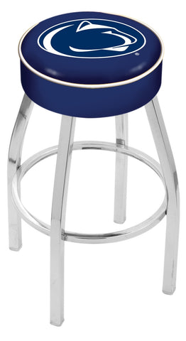 "PSU Nittany Lions 30"" L8C1 - 4"" Penn State Cushion Seat with Chrome Base Swivel Bar Stool by Holland Bar Stool Company"