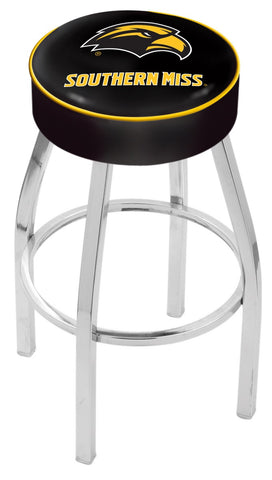"Southern Miss Golden Eagles 30"" L8C1 - 4"" Southern Miss Cushion Seat with Chrome Base Swivel Bar Stool by Holland Bar Stool Company"