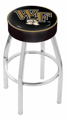"Wake Forest Demon Deacons 30"" L8C1 - 4"" Wake Forest Cushion Seat with Chrome Base Swivel Bar Stool by Holland Bar Stool Company"