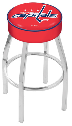 "30"" L8C1 - 4"" Washington Capitals Cushion Seat with Chrome Base Swivel Bar Stool by Holland Bar Stool Company"