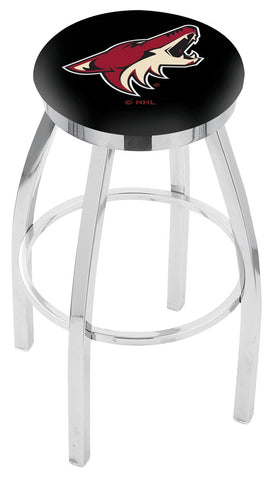 "30"" L8C2C - Chrome Arizona Coyotes Swivel Bar Stool with Accent Ring by Holland Bar Stool Company"