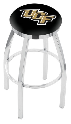 "UCF Knights 30"" L8C2C - Chrome Central Florida Swivel Bar Stool with Accent Ring by Holland Bar Stool Company"