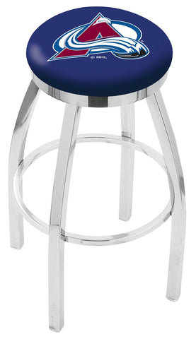 "30"" L8C2C - Chrome Colorado Avalanche Swivel Bar Stool with Accent Ring by Holland Bar Stool Company"