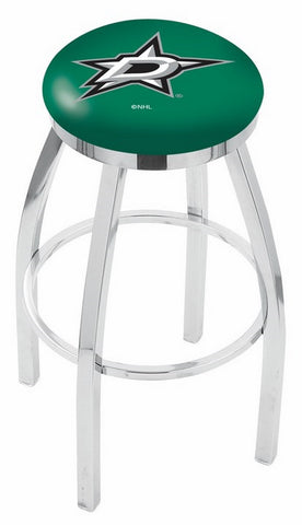 "30"" L8C2C - Chrome Dallas Stars Swivel Bar Stool with Accent Ring by Holland Bar Stool Company"