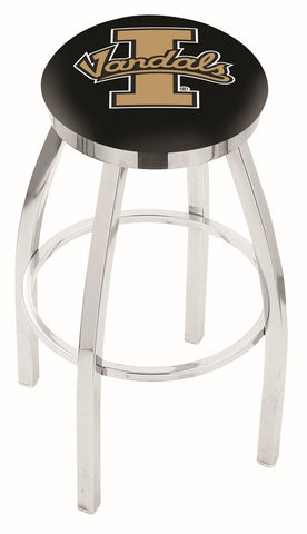"Idaho Vandals 30"" L8C2C - Chrome Idaho Swivel Bar Stool with Accent Ring by Holland Bar Stool Company"