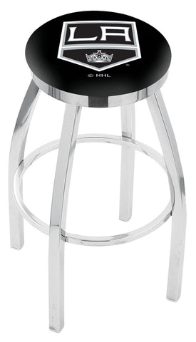 "30"" L8C2C - Chrome Los Angeles Kings Swivel Bar Stool with Accent Ring by Holland Bar Stool Company"